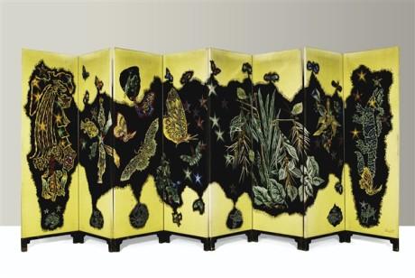 Lurcat Aubusson Tapestry Screen - Paravent - Auction