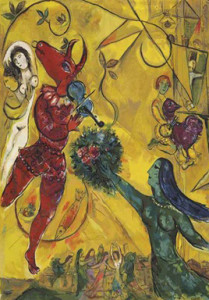 "Cauquil-Prince Chagall tapestry ""La Danse"""