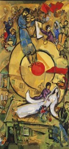 "Cauquil Prince Chagall Tapestry ""Liberation"""