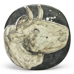 Marina Picasso's EDITION PICASSO VARIANT Bull's Profile sold for $62,500